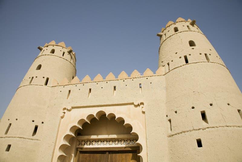 Al Ain堡垒入口  库存照片