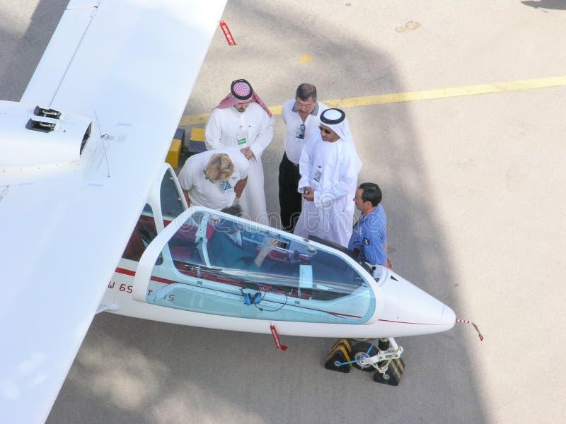 Al Ain Aerobatics przedstawienie zdjęcia stock