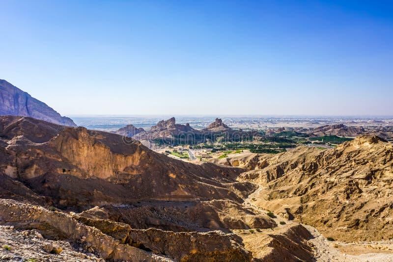 Al Ain Jabal Hafeet royaltyfri fotografi