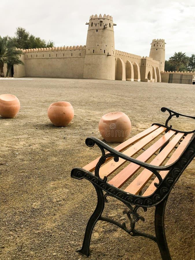Al Ain Jahili Fort fotografering för bildbyråer
