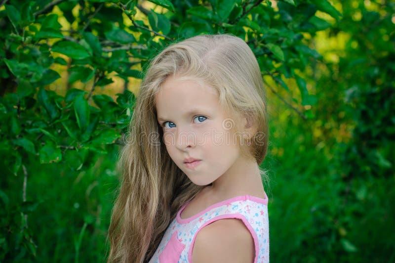 Al aire libre retrato de la chica joven hermosa imágenes de archivo libres de regalías