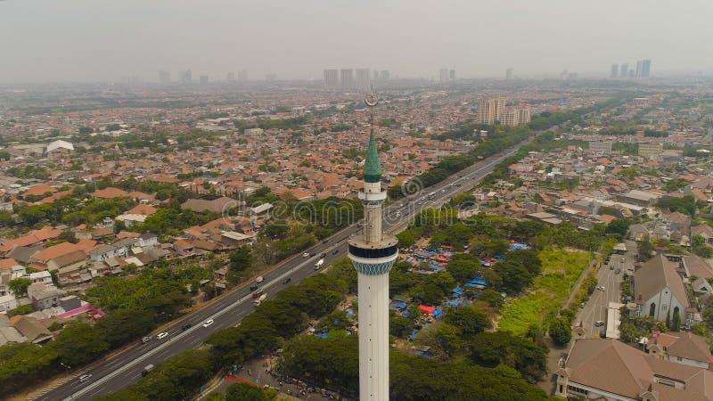 Al Akbar мечети в Сурабая Индонезии стоковые фотографии rf