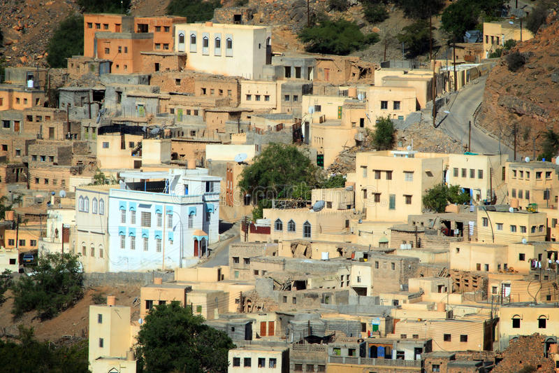 al akhdar ayn jabal Oman fotografia stock