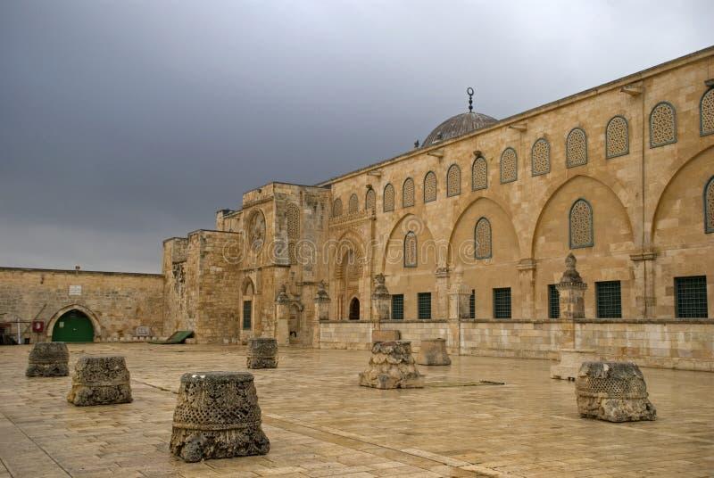 Al Aksa Mosque, Jeruzalem, Israël stock afbeeldingen