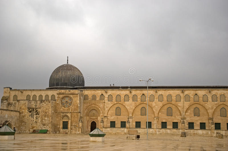 Al Aksa Mosque, Jeruzalem, Israël royalty-vrije stock foto