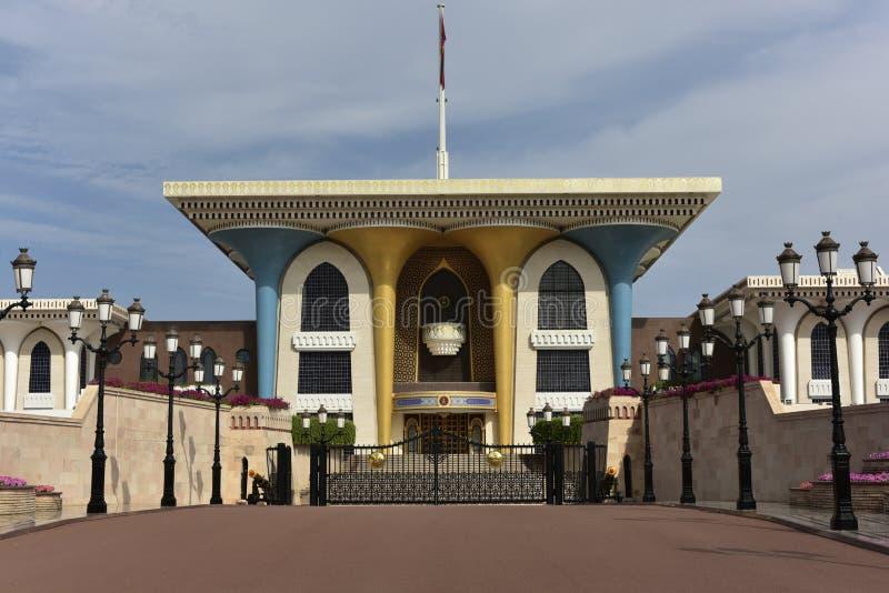 Al Alam pałac, muszkat, Oman fotografia stock