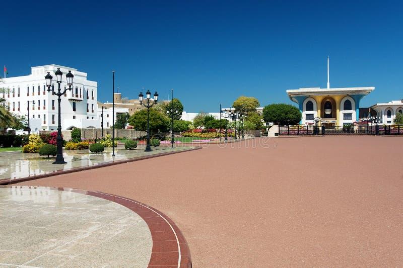 Al Alam Palace - Muscat royaltyfria foton