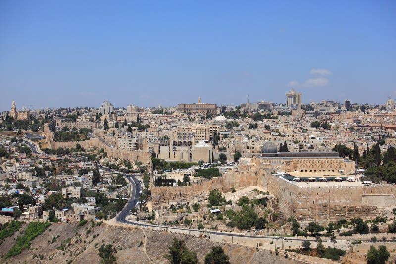 Al-Aqsa Moskee, Oude Stadsmuren, Jeruzalem royalty-vrije stock afbeelding