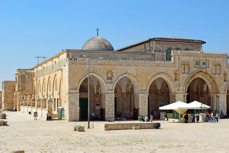 Al Aqsa Mosque beim Tempelberg, Jerusalem, Israel stockfotografie