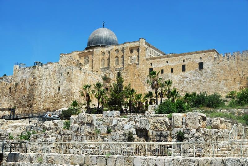 Al Aqsa Mosque sur l'Esplanade des mosquées photographie stock libre de droits