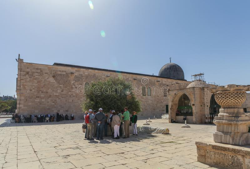 Al Aqsa Mosque, the third holiest site in Islam, located on the Temple Mount in the old town of Jerusalem. Israel stock photography