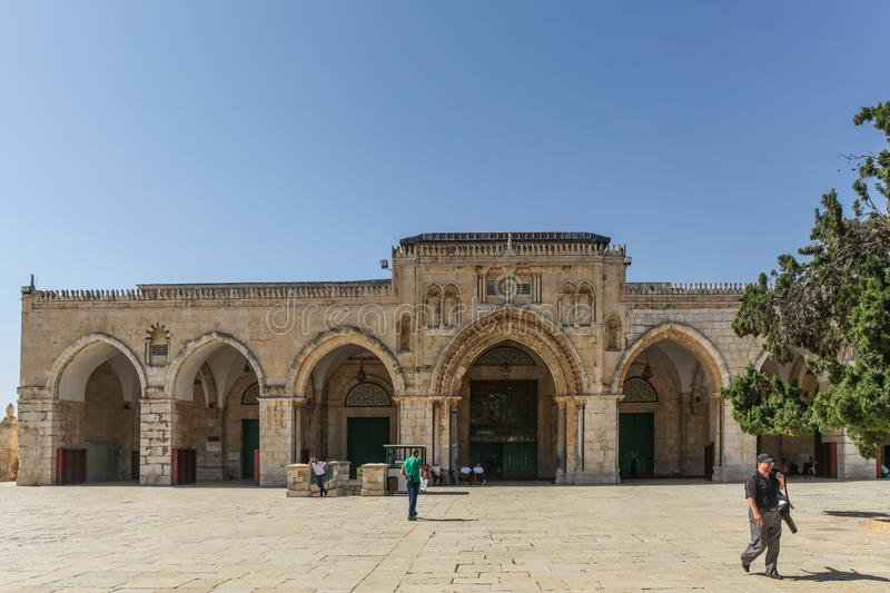 Al Aqsa Mosque, the third holiest site in Islam, located on the Temple Mount in the old town of Jerusalem. Israel royalty free stock images
