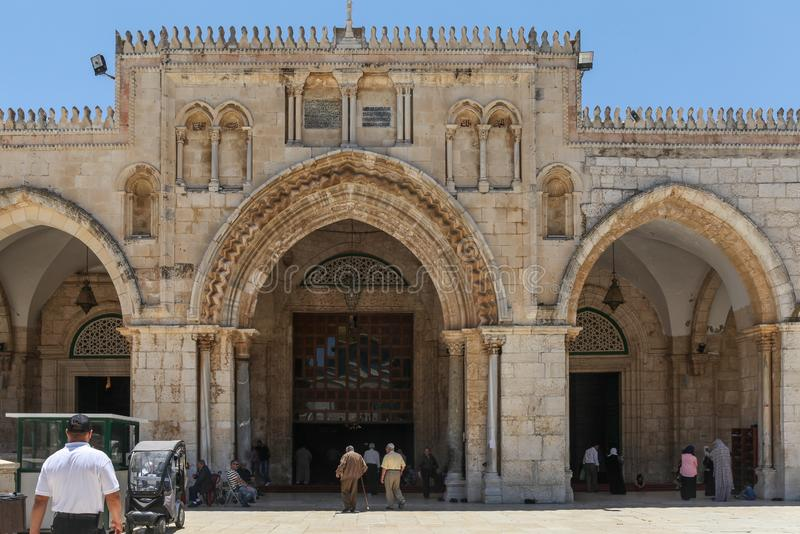 Al Aqsa Mosque, the third holiest site in Islam, located on the Temple Mount in the old town of Jerusalem. Israel royalty free stock photos