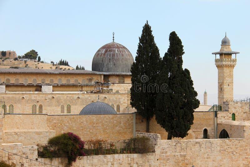 Al Aqsa und   Minarett lizenzfreies stockfoto