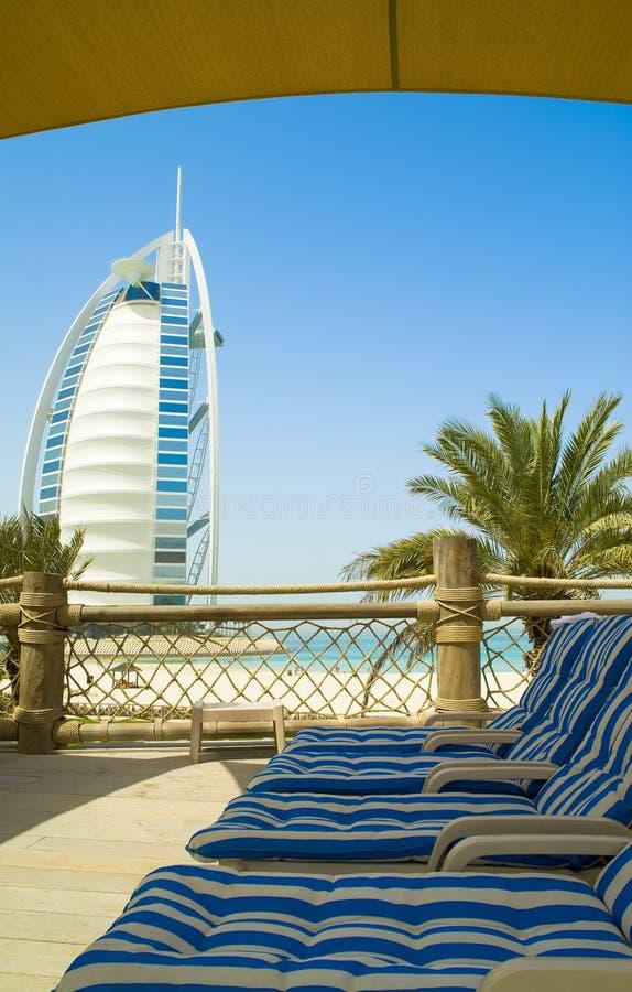 al araba plaży burj zdjęcia royalty free