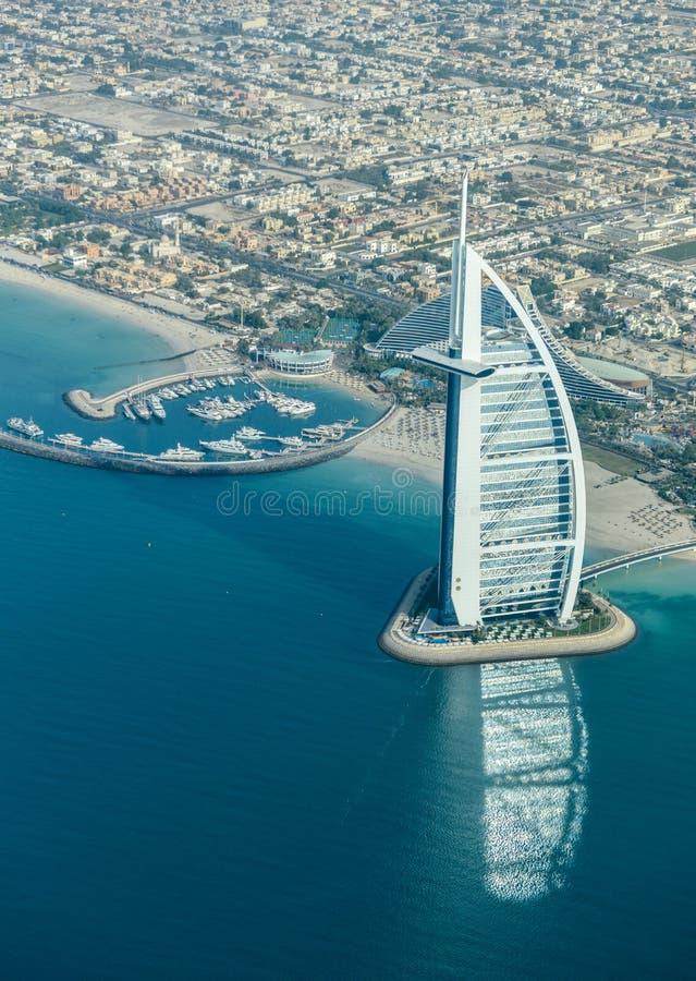 Al-arabo di Burj - Dubai, UAE fotografie stock libere da diritti