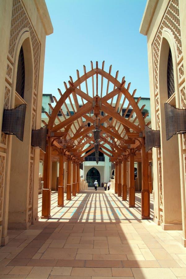 al arabskiego archway bahar souk fotografia stock