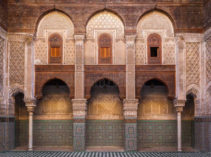 Al-Attarine Madrasa, Fez стоковая фотография