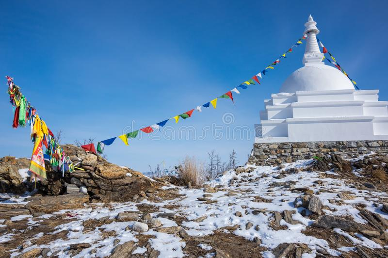 Al Auspicious Stupa of Great Awakening stock afbeeldingen