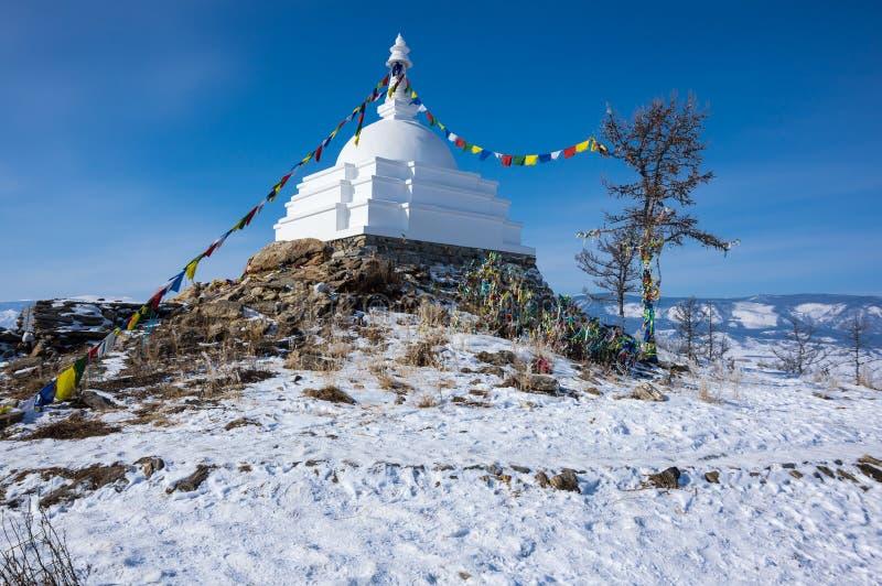 Al Auspicious Stupa of Great Awakening royalty-vrije stock foto