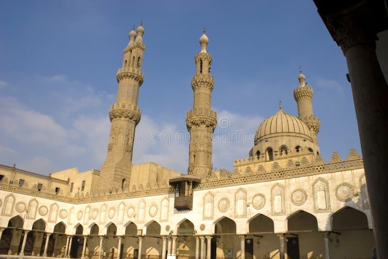 Al azhar清真寺 免版税库存照片