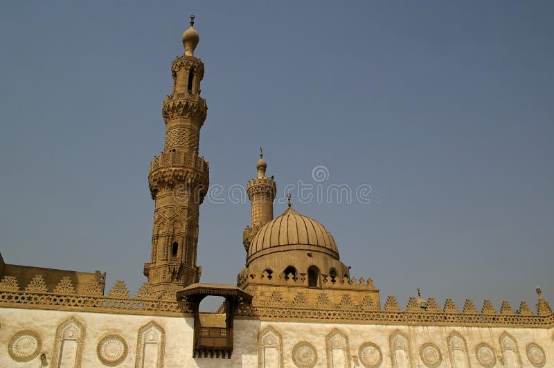 Al azhar moskee in Kaïro royalty-vrije stock fotografie