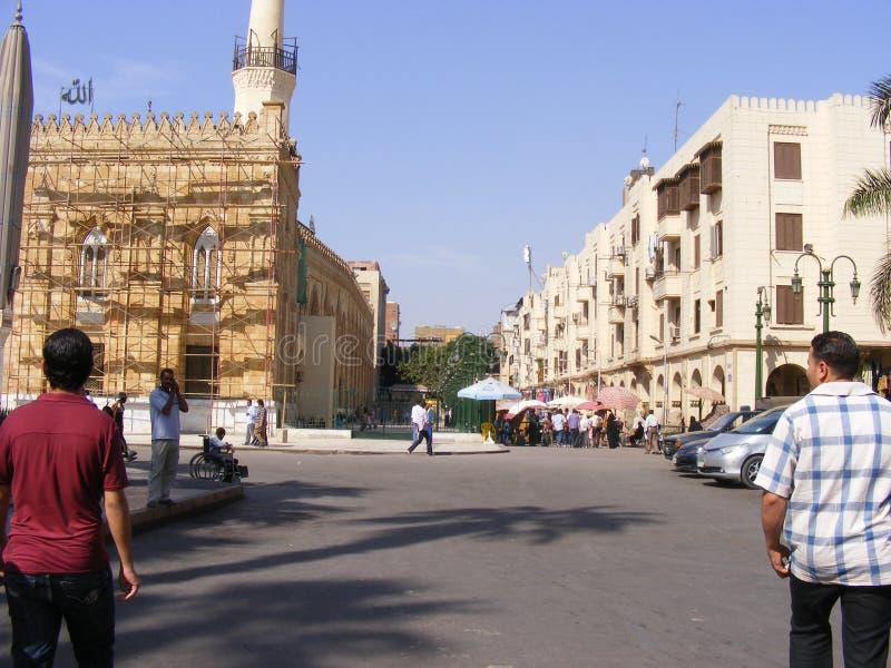 Al azhar moskee in oud Kaïro Egypte royalty-vrije stock foto