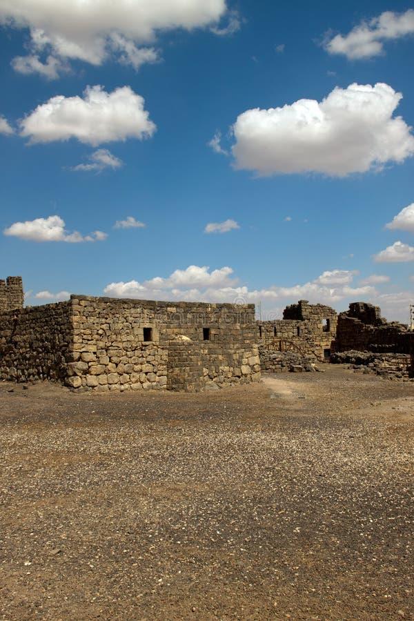 Al Azraq Castle ruins royalty free stock photo