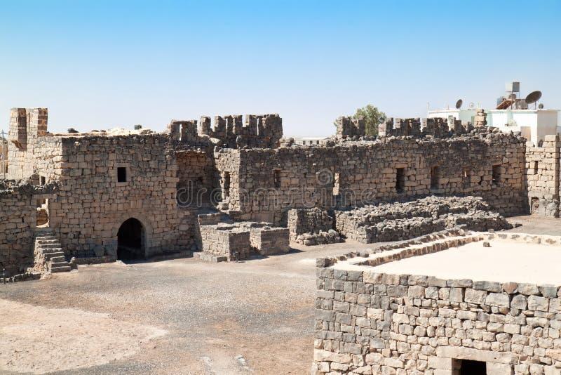 Al Azraq desert castle stock photo