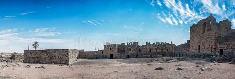 Al Azraq, desert castle, Jordan stock photography