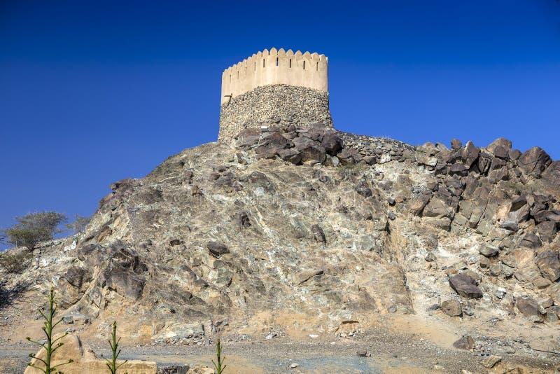 Al Badiyah meczet - jest stary w UAE obrazy stock
