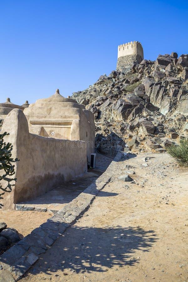 Al Badiyah meczet - jest stary w UAE zdjęcie royalty free