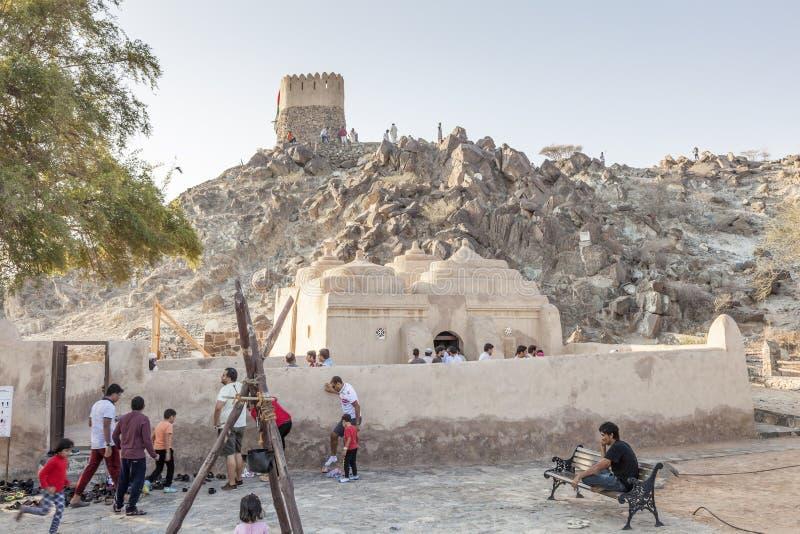 Al Badiyah meczet, UAE fotografia royalty free