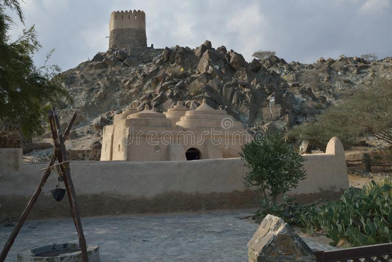 Al Badiyah Mosque stockbild