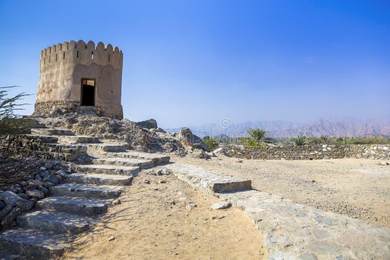 Al Badiyah Mosque - ist das älteste in den UAE lizenzfreies stockfoto