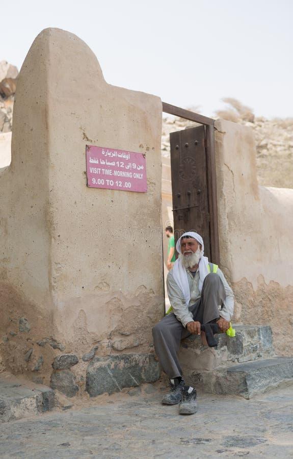 Al Badiyah Mosque- oder Osmane-Moschee die älteste Moschee in den UAE lizenzfreies stockbild
