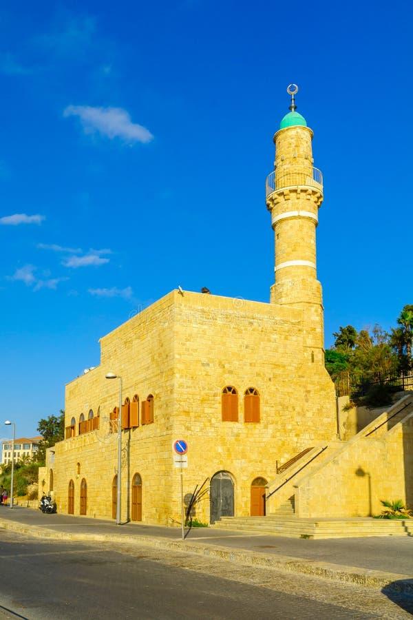Al-Bahr die Seemoschee in Jaffa, jetzt Teil von Telefon-Aviv-Yafo stockbilder