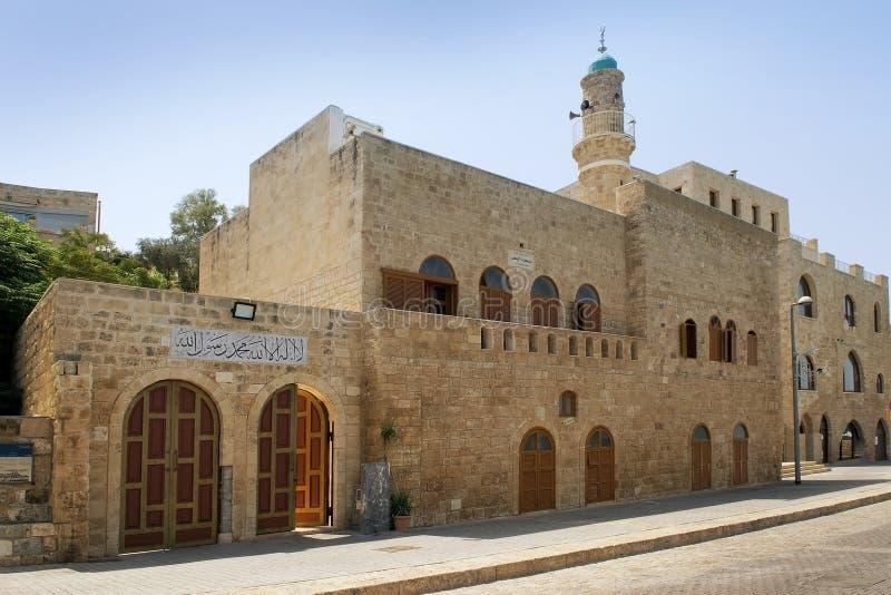 Al Bahr meczet w Starym mieście, Jaffa, Izrael fotografia royalty free