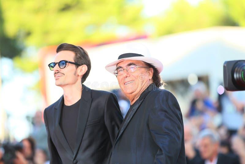 Al Bano Carrisi i Fabio Rovazzi zdjęcia royalty free