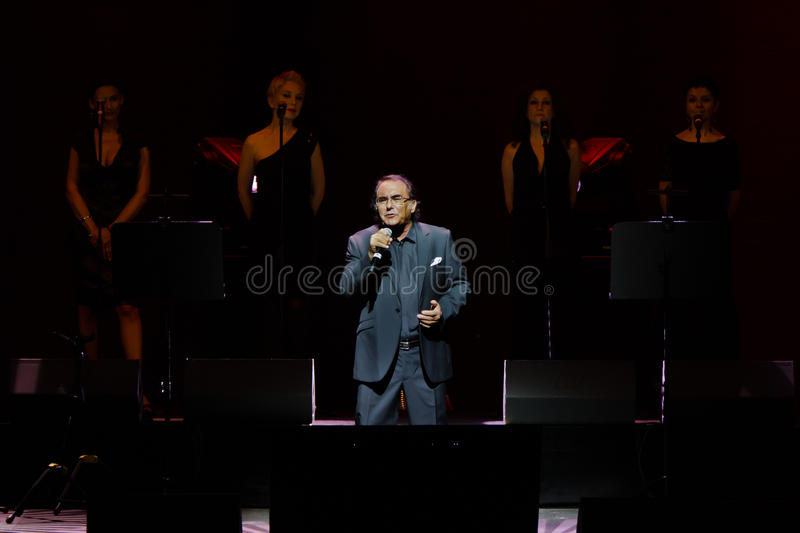 Al Bano in concert at Liceu Theatre in Barcelona royalty free stock images