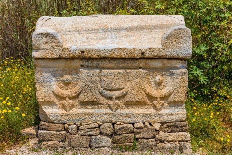 Al-Bass Archaeological Site Tyre Sur Líbano sul fotografia de stock royalty free