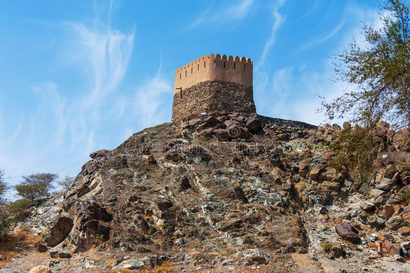 Al Bidiyah Fort im Emirat von Fujairah in UAE lizenzfreies stockfoto