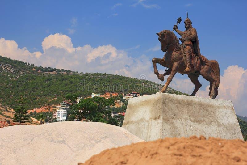 Al-buller Kay-Kubad för monumentsultanalun i Alanya kalkon royaltyfri bild