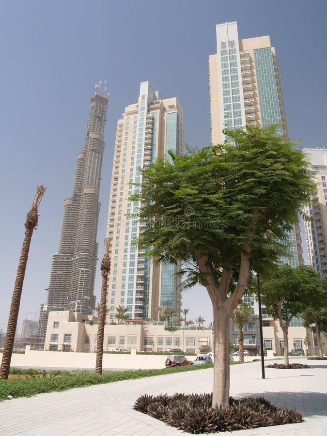 Al Burj, der Kontrollturm in Dubai, UAE stockbilder