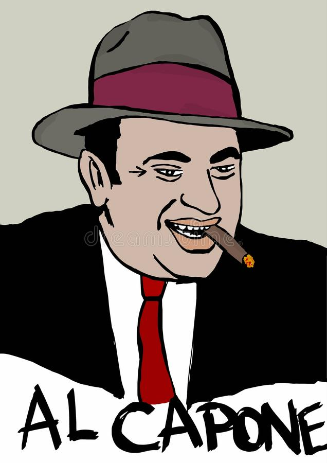 Al Capone stock illustratie