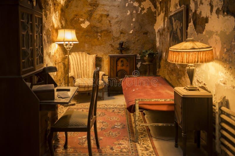 Al Capone cell inside State Penitentiary. Philadelphia stock image