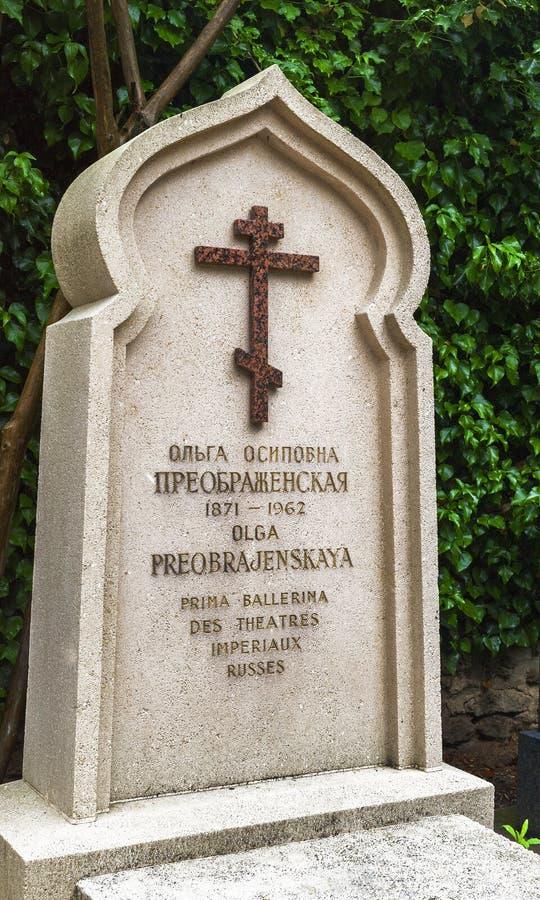 Al cimitero russo in Francia immagini stock libere da diritti
