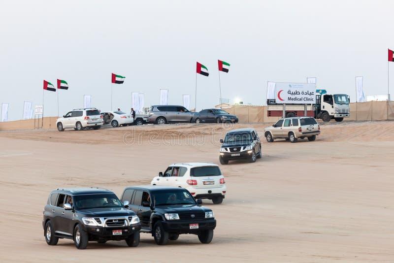 Al Dhafra Wielbłądzi festiwal w Abu Dhabi obraz stock