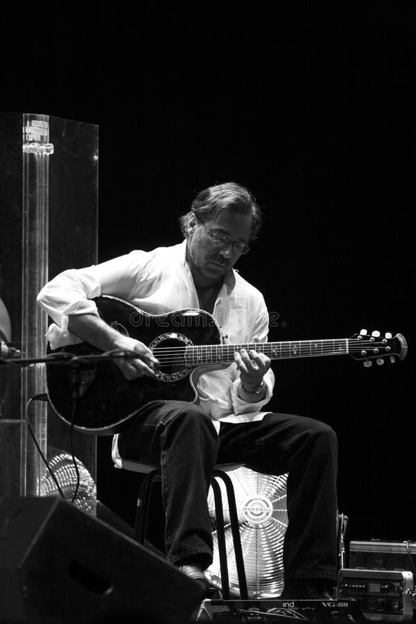 Al Di Meola gitaarspeler royalty-vrije stock foto