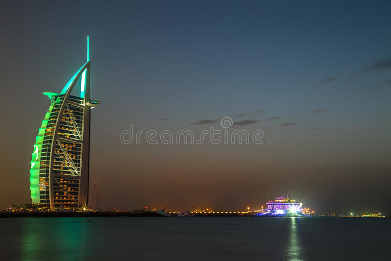 Al Dubais Burj Araber - Hotel mit 5 Sternen stockfotografie